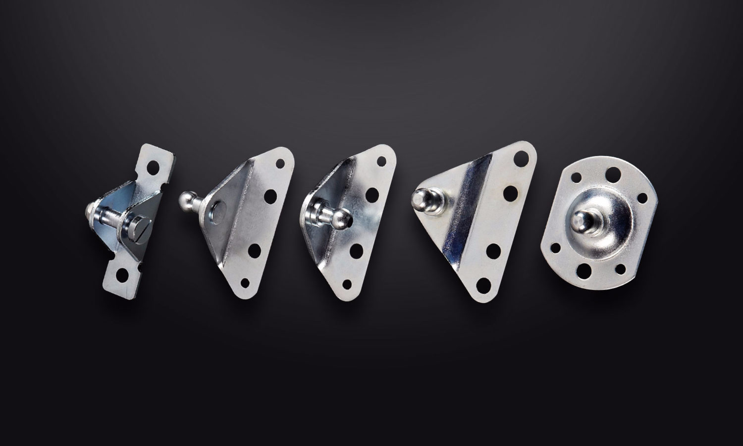 Camloc mounting brackets. Metal various shapes.