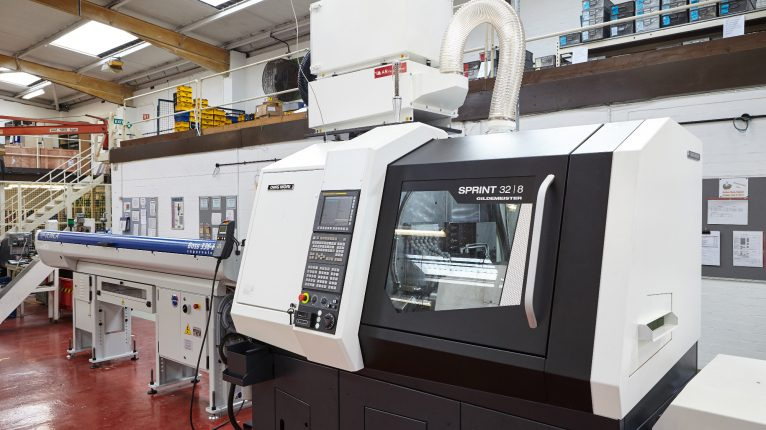 Camloc new CNC Lathe machine 06.11.17 766x430 - We have invested in a new CNC Lathe to enhance production capability and flexibility for future product development