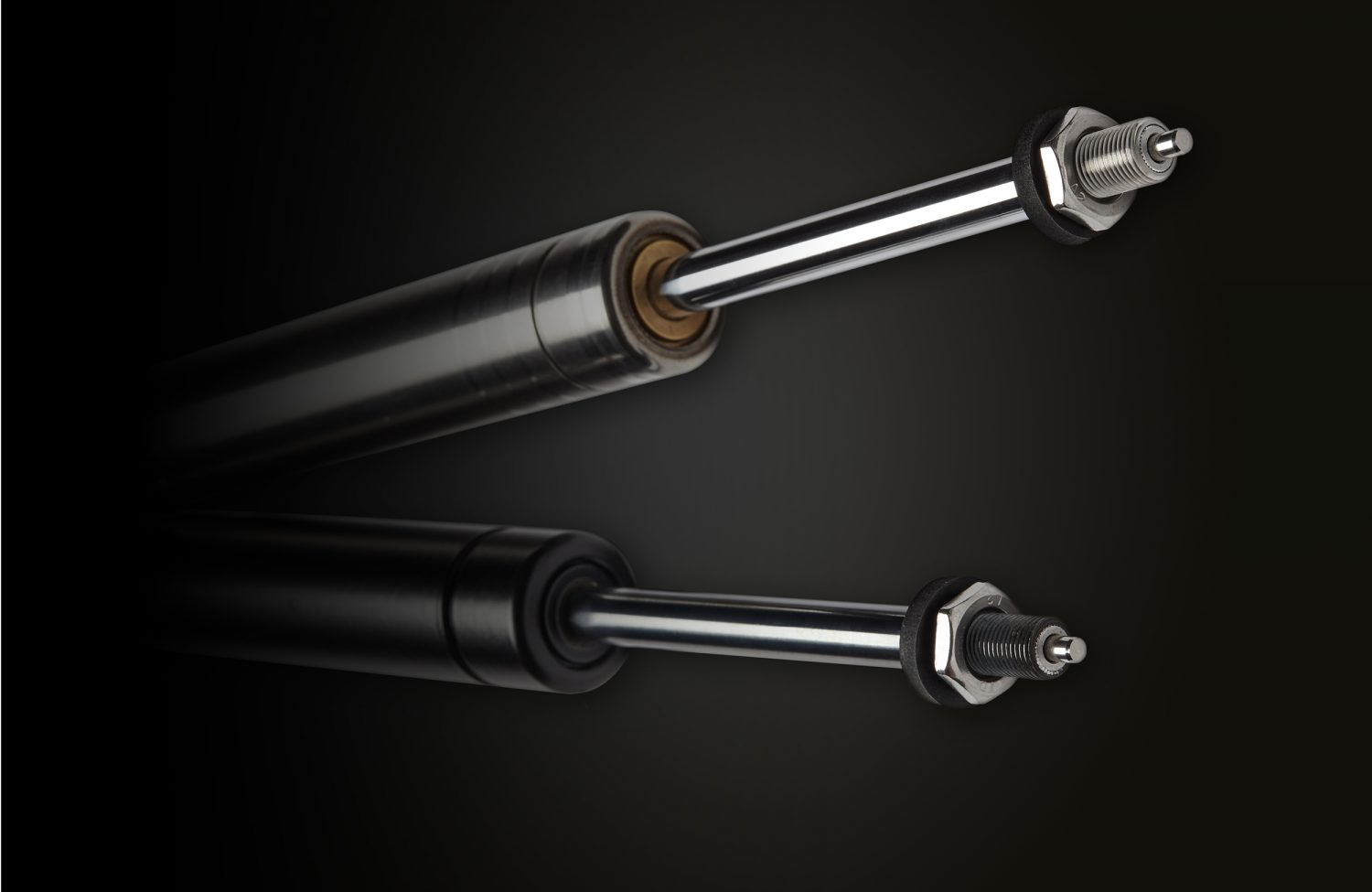 Blocklift gas struts at an angle made from stainless steel or carbon