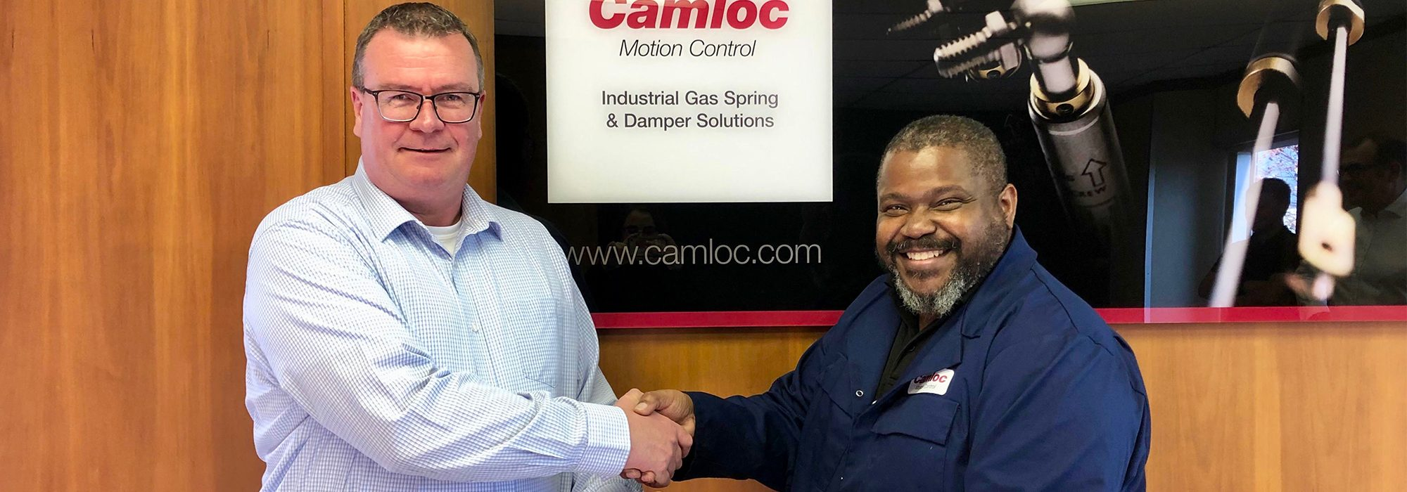 Camloc's long-serving production operative Andy Knight being celebrated